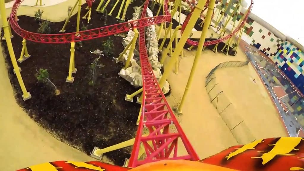 The Velociraptor Roller Coaster at IMG Worlds of Adventure