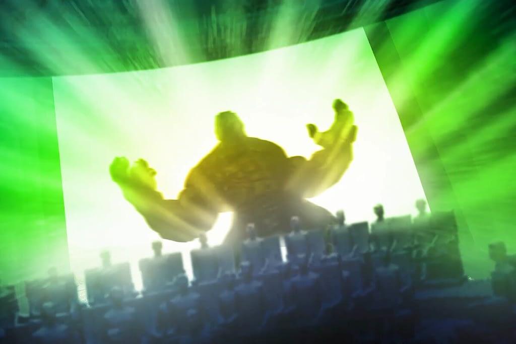 Hulk theme park attraction