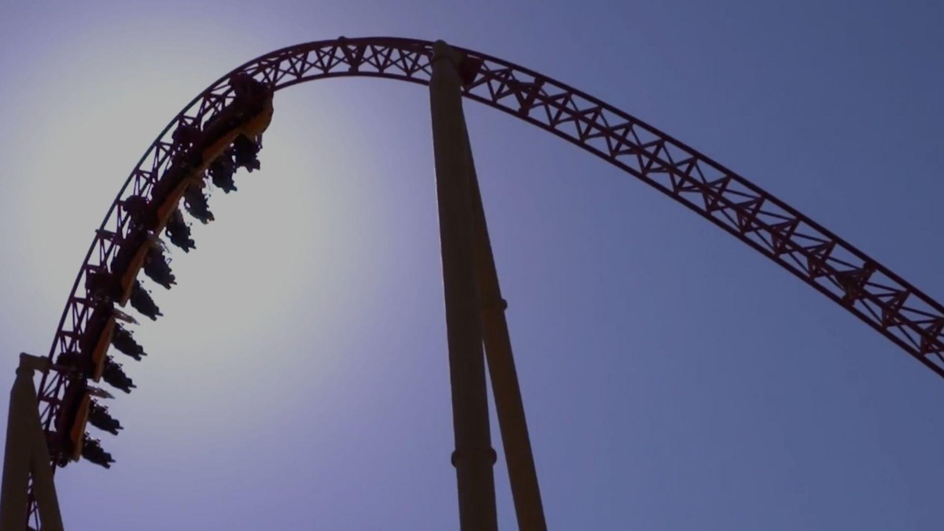 The Velociraptor Coaster at IMG Worlds of Adventure