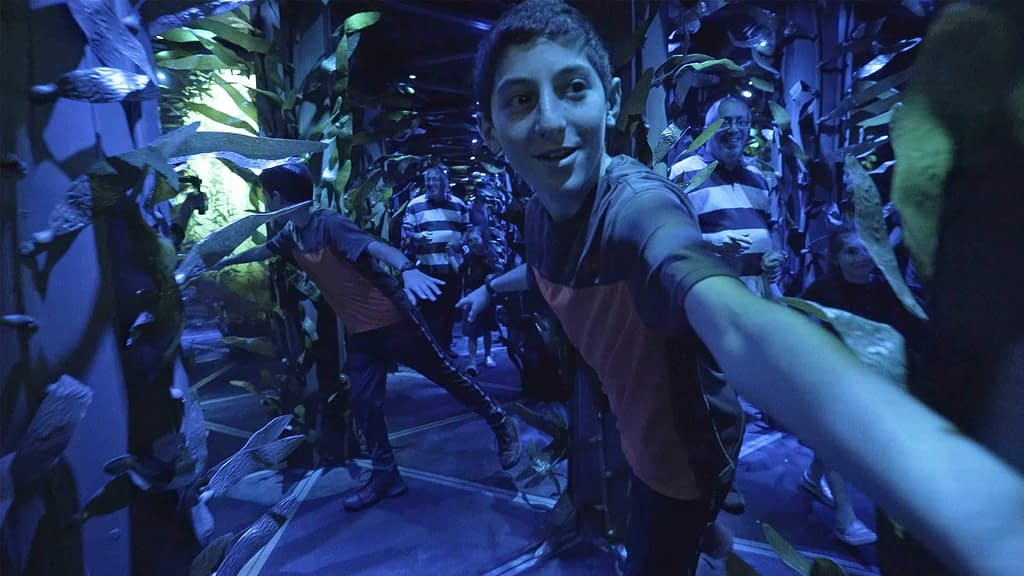 Mirror maze at National Geographic Encounter Ocean Odyssey