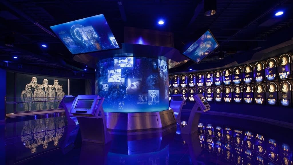 Interactive nasa museum experience
