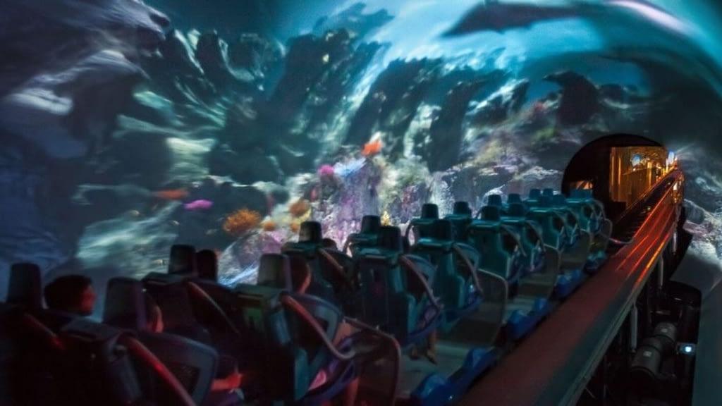 Manta Roller Coaster Media Tunnel at SeaWorld