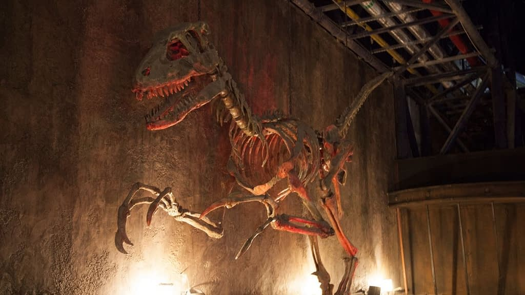 The Velociraptor Roller Coaster queue