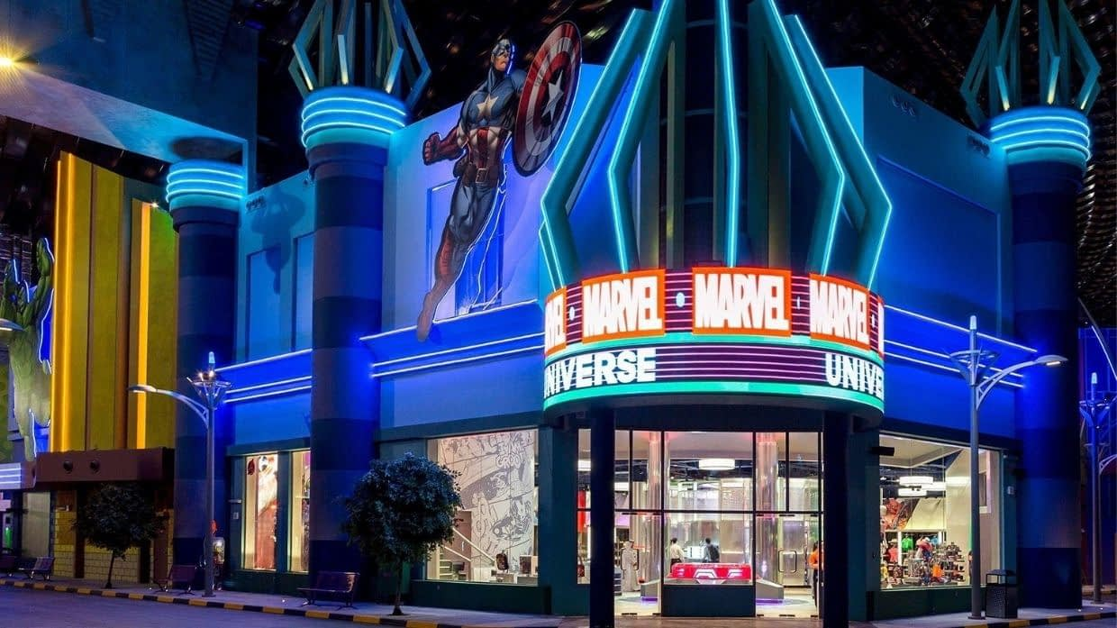 Marvel themed retail store