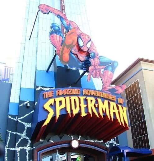 Spiderman Ride at Universal Studios