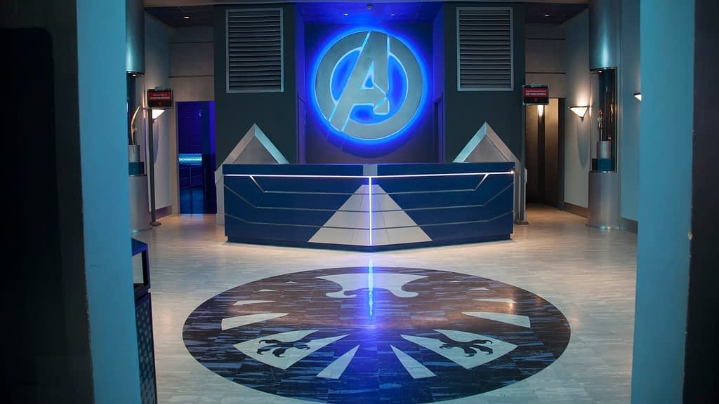 Avengers Battle Of Ultron Dark Ride Entrance