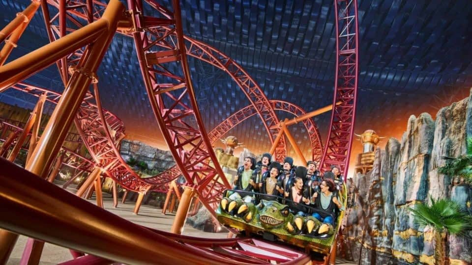 IMG Worlds of Adventure roller coaster