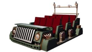 Theme park ride vehicle design