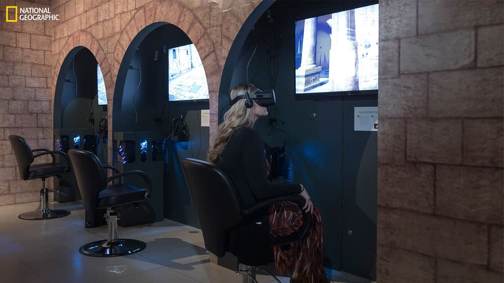 VR experience at National Geographic Museum