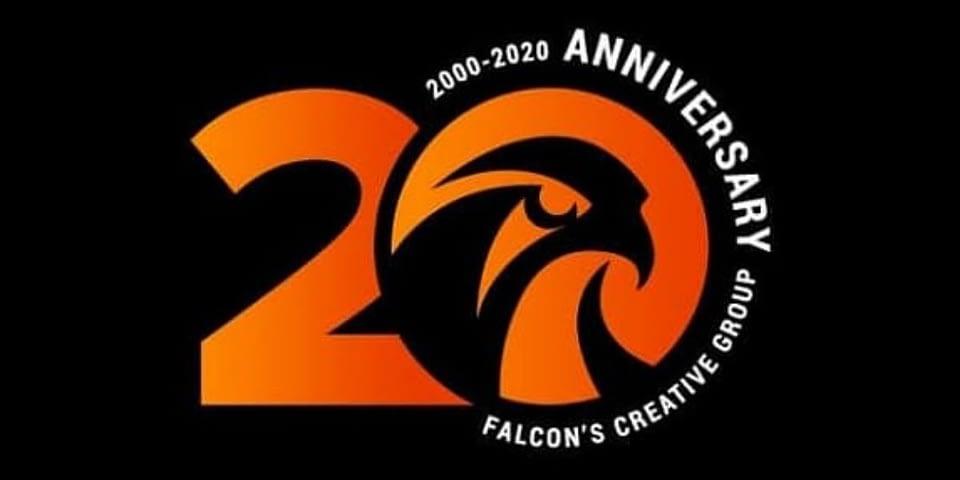 Falcon's 20th anniversary logo
