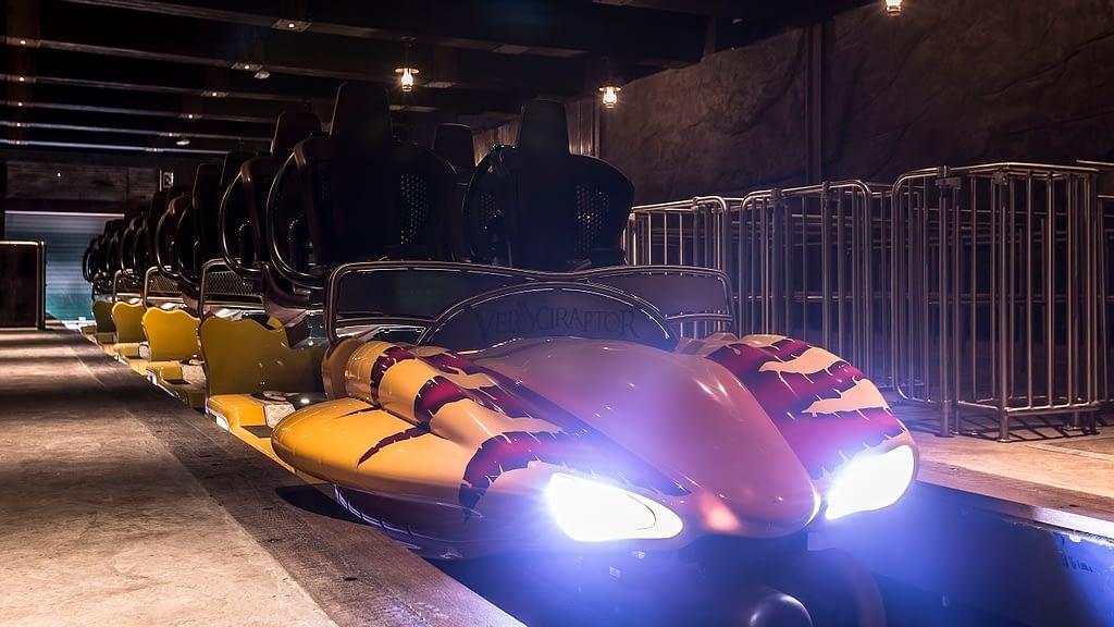 Velociraptor Roller Coaster ride vehicle