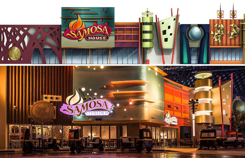 Samosa House Restaurant Elevation