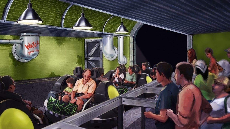 Spider-Man Doc Ock's Revenge Spinning Coaster at IMG Worlds of Adventure