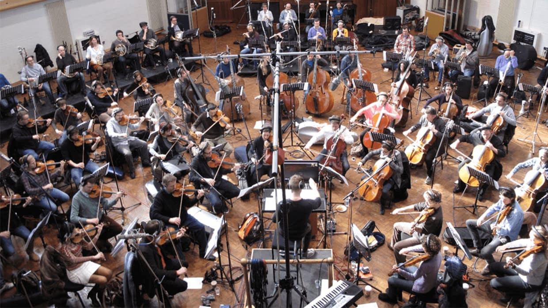 Orchestra recording Turtle Trek