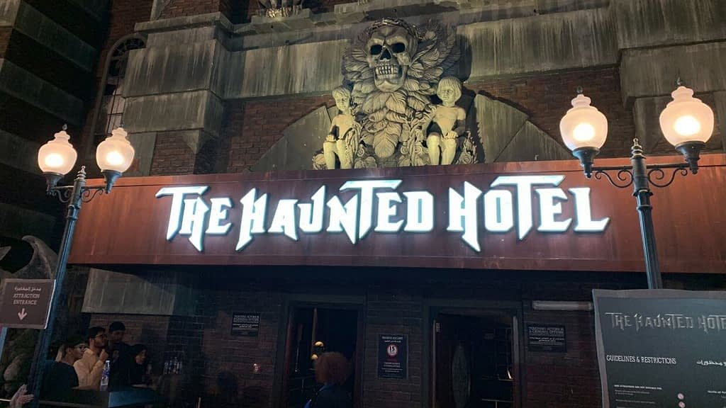 Haunted Hotel at IMG Worlds of Adventure Entrance