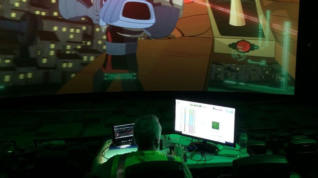 Onsite sound mixing for 5D theater