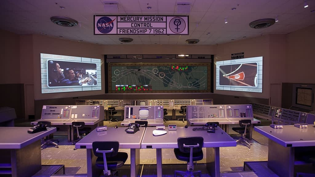Heroes and Legends control room at Kennedy Space Center