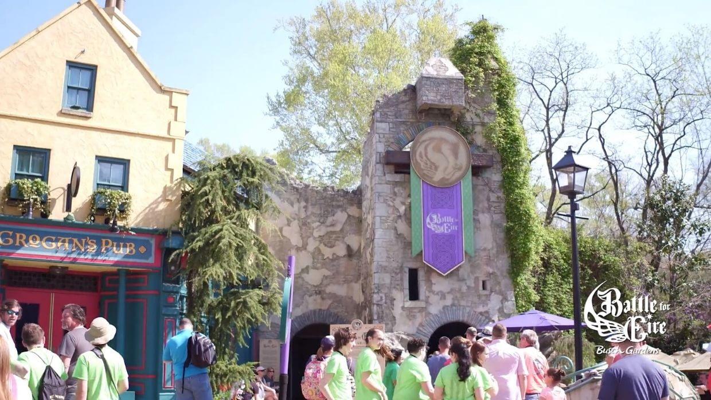 Battle For Eire Entrance at Busch Gardens