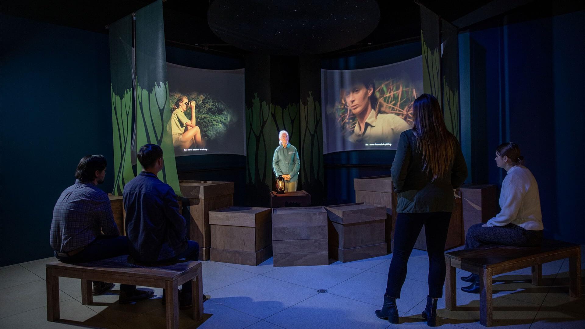 Hologram of Jane Goodall