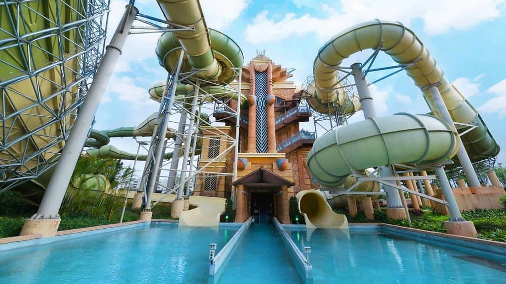 Water Park Slide Attraction