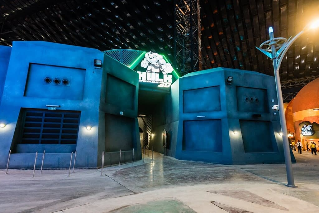 Hulk Epsilon Base 3D at IMG Worlds of Adventure